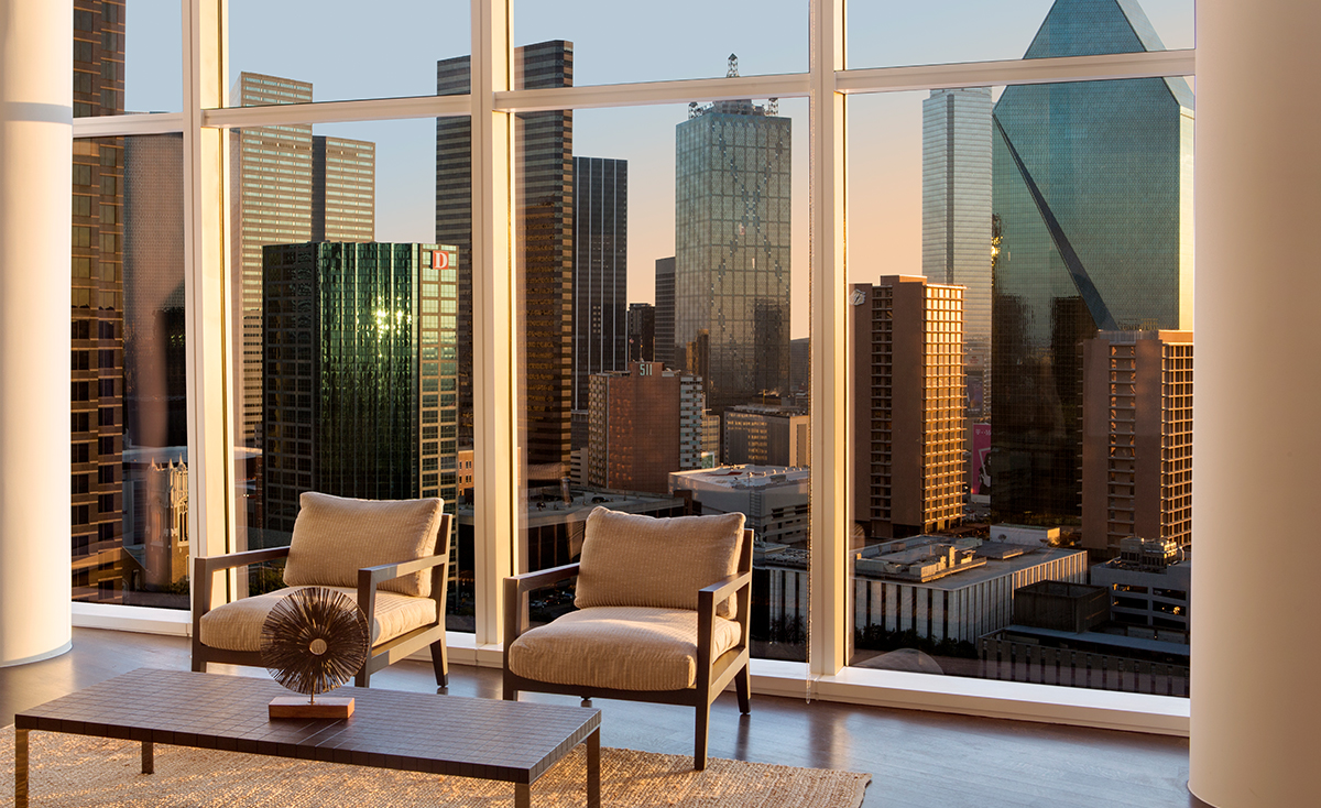 Museum Tower Condos for Sale Floor-to-ceiling Windows